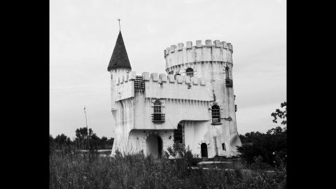 Irish Bayou was flooded during Katrina, which swept away homes, trailers and boats. But one structure withstood the storm -- a fishing cabin built to resemble a castle.