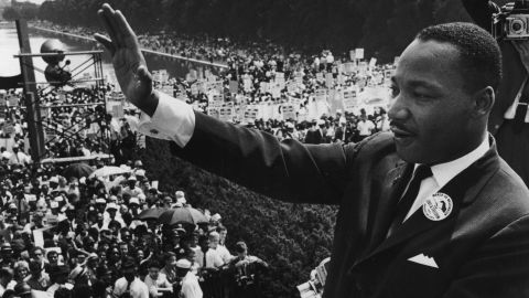 """The Rev. Martin Luther King Jr. delivers his """"I Have A Dream"""" speech on August 28, 1963."""