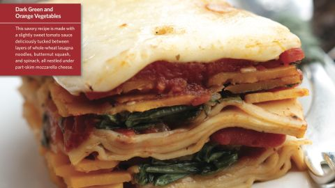 """<a href=""""http://www.cnn.com/2015/08/05/health/squish-squash-lasagna-kids-recipe/index.html""""><strong>CLICK HERE FOR FULL RECIPE</strong></a><br />Another great name sure to please the kids--just don't let them try to """"squish""""it with their hands while it's on the way to their mouths.  Chef Jeff Lindemeyer worked hard building this colorful lasagna to please the kids at Liberty Elementary School in Powell, Ohio."""