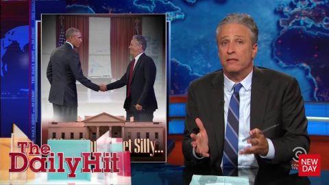 Jon Stewart on meeting with President Obama Daily Hit Newday _00005019.jpg