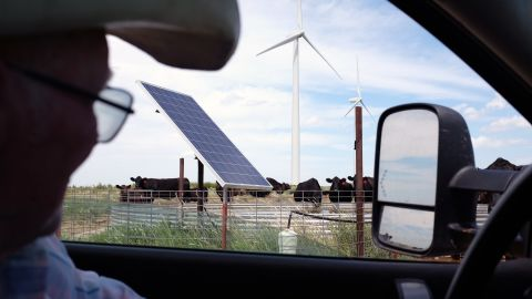 Woodward, Oklahoma, is traditionally an oil and gas kind of place, but wind farms and solar pumps are becoming common, too.