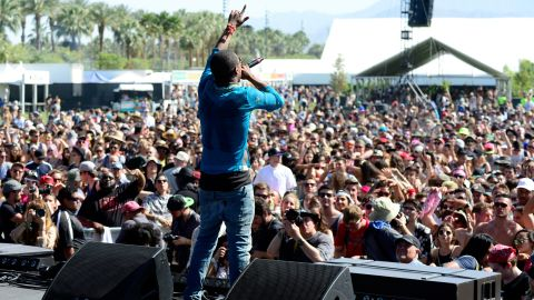 Recording artist Lil B performs onstage during day 1 of the 2015 Coachella Valley Music & Arts Festival at the Empire Polo Club on April 10, 2015 in Indio, California.