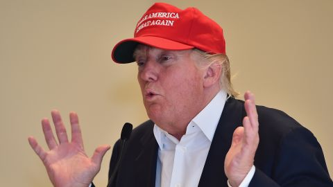 Trump visits his Scottish golf course Turnberry on July 30.