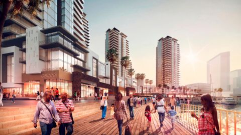 Eko Atlantic is a privately funded project in partnership with the Lagos State Government. Once finished, it plans to be home to a quarter of a million people. The new city is connected off the Victoria Island, a district in Lagos.
