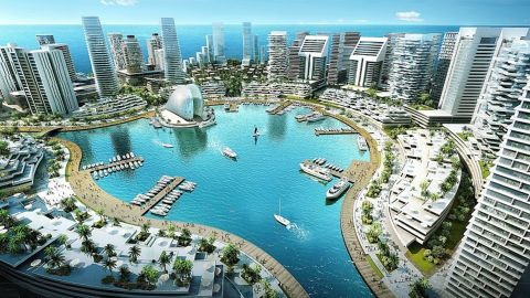 Is this Nigeria's answer to Dubai? Eko Atlantic is the ambitious multi-billion dollar project that aims to transform Lagos, the country's most populated city. Its creators want it to become the new financial hub for Nigeria -- bringing in 150,000 commuters every day.