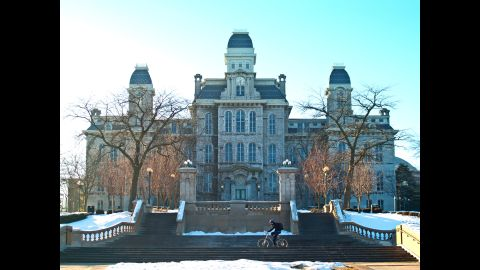 """Syracuse University, home of the Orangemen, came in fifth this year. The school <a href=""""http://www.cnn.com/2014/08/05/living/princeton-review-party-schools-syracuse/"""">topped the list in 2014</a>."""