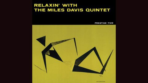 """<strong>""""Relaxin' with the Miles Davis Quintet""""</strong>: Esmond Edwards' minimalist illustration of a reclining woman is all angles and as sharp as the band itself on Davis' 1956 album. The band included John Coltrane, Red Garland, Paul Chambers and Philly Joe Jones."""