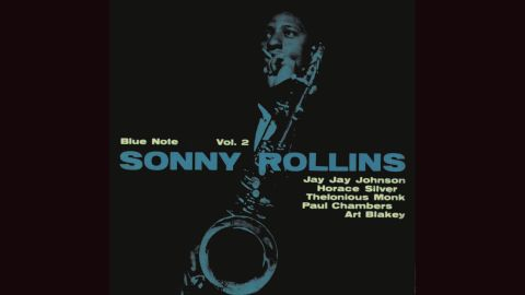 """<strong>""""Sonny Rollins Vol. 2""""</strong>: Rollins' 1957 cover, with a photograph by Francis Wolff, is so distinctive that Joe Jackson copied it practically note-for-note (so to speak)<a href=""""http://cdn.discogs.com/PEQVLAXoWXN3dqWUKaJuzkCaq80=/fit-in/600x600/filters:strip_icc():format(jpeg):mode_rgb():quality(96)/discogs-images/R-6425341-1418909830-2814.jpeg.jpg"""" target=""""_blank"""" target=""""_blank""""> for his 1984 album """"Body and Soul.""""</a><br />"""