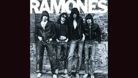 """<strong>""""Ramones""""</strong>: The cover of the band's 1975 debut, with a black and white photograph of the band by Roberta Bayley and """"RAMONES"""" in Franklin Gothic font, offered some inkling to the blunt music within: direct, aggressive and no-holds-barred."""