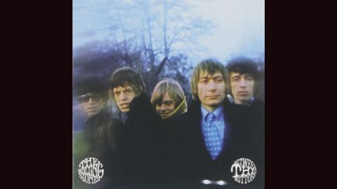 """<strong>""""Between the Buttons,"""" the Rolling Stones</strong>: The Stones' bad-boy image was often just that -- an image -- but you'd never know from looking at the cover of their 1967 album. Gered Mankowitz's photograph shows a group looking positively sinister, with Charlie Watts, of all people, the obvious mastermind."""