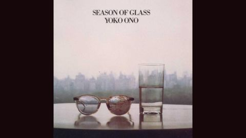 """<strong>""""Season of Glass,"""" Yoko Ono</strong>: Six months after her husband, John Lennon, was shot to death in front of their apartment building, Ono put out 1981's """"Season of Glass."""" The cover couldn't have been a more stark image of grief and perseverance: Lennon's blood-stained glasses and a half-full glass of water."""