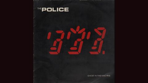 """<strong>""""Ghost in the Machine,"""" the Police</strong>: There's something creepy about the chaotic digital display on the cover of the Police's 1981 album, though the image -- by Mick Haggerty -- is supposed to represent the three band members' faces. Others see <a href=""""http://www.feelnumb.com/2012/10/16/the-police-ghost-in-the-machine-album-cover-hidden-666/"""" target=""""_blank"""" target=""""_blank"""">something even more sinister</a>."""