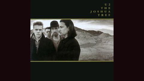 """<strong>""""The Joshua Tree,"""" U2</strong>: A band known for big statements went truly expansive for its 1987 album, posing in California's Death Valley in a panoramic shot by Anton Corbijn. The photos were taken in December, so if you think U2 looks serious because they're cold, you're right."""