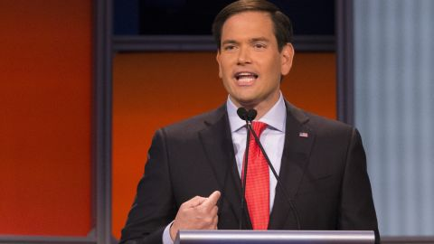 """The 43-year-old freshman senator of Florida <a href=""""http://www.cnn.com/interactive/2015/05/politics/2016-election-candidates/#Rubio"""">Marco Rubio</a> is the youngest contender in the race for the presidency. Rubio entered the political realm as an intern to U.S. Rep. Ileana Ros-Lehtinen of Florida in 1991, while he was attending law school. <br /><br />On immigration, he said that the evidence is clear the majority of the people coming across border are not from Mexico."""