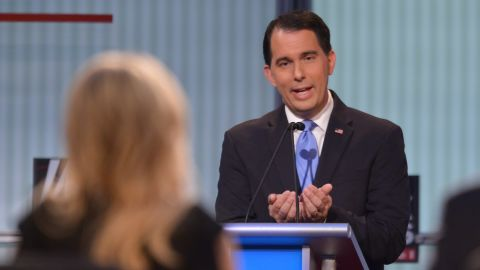"""Wisconsin Gov. <a href=""""http://www.cnn.com/interactive/2015/05/politics/2016-election-candidates/#Walker"""">Scott Walker</a> is one of the most recognizable and polarizing governors in the country. In 2012, Walker became the only U.S. governor in history to win a recall election, following his effort to limit collective bargaining power for public sector employees.<br /><br />When asked by moderator Megyn Kelly, """"Would you really let a mother die rather than have an abortion?"""" Walker replied, """"I'm pro-life, I've always been pro-life, and I've got a position consistent with, I think, many Americans out there."""""""