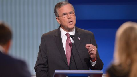 """Former Florida Gov.<a href=""""http://www.cnn.com/interactive/2015/05/politics/2016-election-candidates/#Bush""""> Jeb Bush</a> is son to former president George H.W. Bush and brother to former president George W. Bush. He has been trailing in second place behind Trump in the polls. Bush has been involved in politics since the early 1980s.<br /><br />Bush addressed the immigration issue by stressing that he did not support """"amnesty.""""  """"We need to be much more strategic on how we deal with border enforcement, border security,"""" Bush said. """"We need to eliminate the sanctuary cities in this country. It is ridiculous and tragic that people are dying because of the fact that local governments are not following the law."""""""