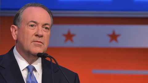 """<a href=""""http://www.cnn.com/interactive/2015/05/politics/2016-election-candidates/#Huckabee"""">Mike Huckabee</a> is a former Arkansas governor and Southern Baptist minister. He hosted a TV show, """"Huckabee,"""" which ran on Fox News from 2008-2015."""