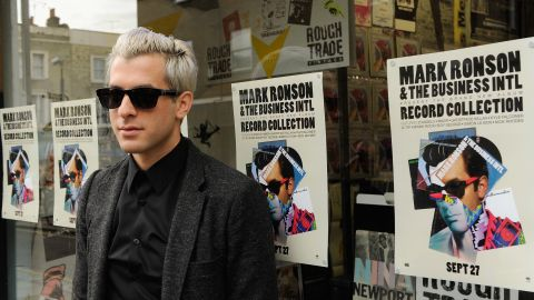"""Singer Mark Ronson at Rough Trade's flagship London store. The company relaunched in 2007 with a mandate to promote vinyl as a cultural experience -- a """"third place"""" between work and home."""