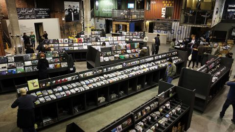 Rough Trade record store in New York covers 15,000 square feet, making it the largest in the city. The store opened in 2013 at a time when many traditional record stores were closing.