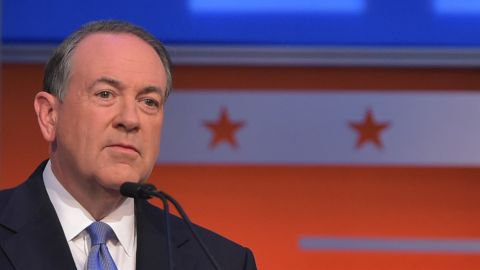 Former Arkansas Gov. Mike Huckabee, who ran against Trump in the primary