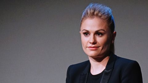 """Actress Anna Paquin<a href=""""http://www.huffingtonpost.com/2013/06/21/anna-paquin-bitchy-resting-face-video_n_3477410.html"""" target=""""_blank"""" target=""""_blank""""> lamented </a>to Jimmy Kimmel that she suffered from a resting facial expression that makes her look """"like you want to kill people, or like you're a giant bitch. That's pretty much how I come across"""" -- even when she's happy."""