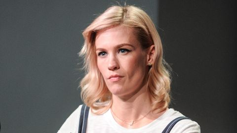 """Actress January Jones played a seriously unhappy woman on """"Mad Men,"""" and <a href=""""http://jezebel.com/please-leave-january-jones-to-be-a-bitch-in-peace-508885820"""" target=""""_blank"""" target=""""_blank"""">some judged</a> her harshly for not banishing that persona off screen. In a New York Times profile, the writer <a href=""""http://www.nytimes.com/2013/05/19/fashion/an-interview-with-january-jones-of-mad-men.html?partner=rss&emc=rss&pagewanted=all&_r=2&"""" target=""""_blank"""" target=""""_blank"""">felt compelled to note</a>, """"It isn't easy to coax a smile out of January Jones."""""""