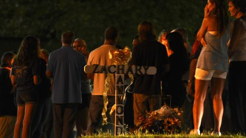 Family and friends gather on Friday, August 7 in Seneca, South Carolina, to remember the life of the Zachary Hammond, who was shot to death by a police officer on July 26.