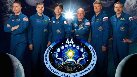 From left: Kjell Lindgren, Oleg Kononenko, Kimiya Yui, Scott Kelly, Gennady Padalka and Mikhail Kornienko.