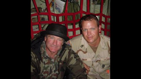 """While serving in Afghanistan in 2002, <a href=""""http://ireport.cnn.com/docs/DOC-1161905"""">Dan Shelor</a> attended one of the comedian's performances for the USO. After the show, Shelor had the privilege of sitting next to Williams on a flight to Manas, Kyrgyzstan. During the flight, Shelor told Williams he was flying to Manas to find a woman he had met before, and was hoping to win her heart over."""