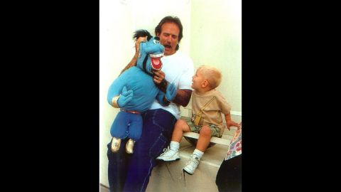 """In 1996, <a href=""""http://ireport.cnn.com/docs/DOC-1161542"""">Mark Webb</a> was working with Robin Williams on the movie """"Father's Day."""" Webb's son, Tyler, was playing with his Genie puppet on set when Williams walked over and did an impromptu puppet show for the boy and the 300 people who had gathered to watch."""