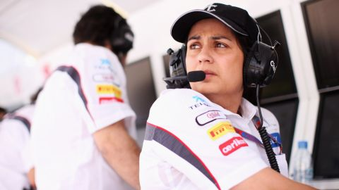 Indian lawyer Monisha Kaltenborn ticked off another first for women in F1 as she became the sport's first female team principal in 2012,  taking over the reins of Switzerland's Sauber. She juggles her F1 career with being a mother to two children.