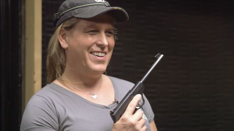 Kristin Beck, former member of Seal Team 6 shoots with SE Cupp