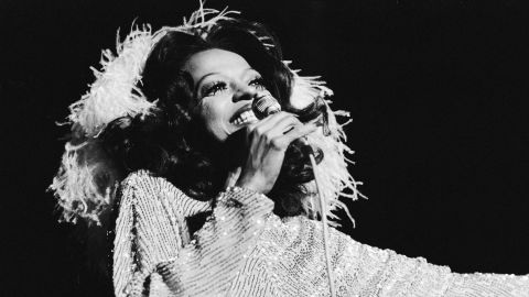 """She found fame in the '60s with the Supremes, but American soul singer Diana Ross had a string of solo pop hits in the '70s, from """"Ain't No Mountain High Enough"""" to """"Love Hangover."""""""