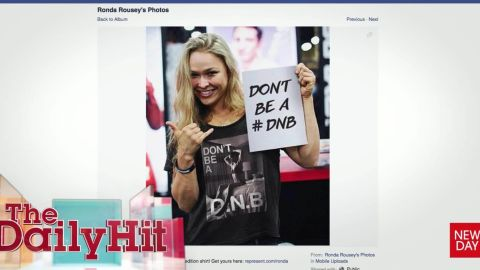 Ronda Rousey Don't be a D.N.B shirts for charity Daily Hit Newday _00013201.jpg
