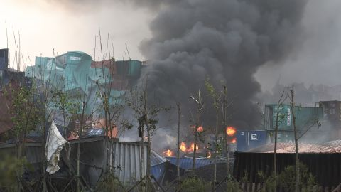 Over 1,000 firefighters were called in to put out secondary fires caused by the explosions.