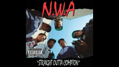 """<strong>""""Straight Outta Compton,"""" N.W.A.</strong>: This photograph is considered one of the most provocative to ever grace an album cover: six guys staring toward the ground, one pointing a handgun. As the cover art for """"Straight Outta Compton,"""" the pioneering debut album by N.W.A., it's the image of the record that revolutionized gangsta rap and redefined hip-hop."""