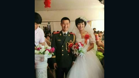 Newly wed firefighter Yin Yanrong was among the dead