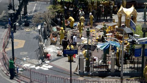 Thailand's prime minister on Tuesday promised that authorities would quickly track down those responsible for the central Bangkok bombing.