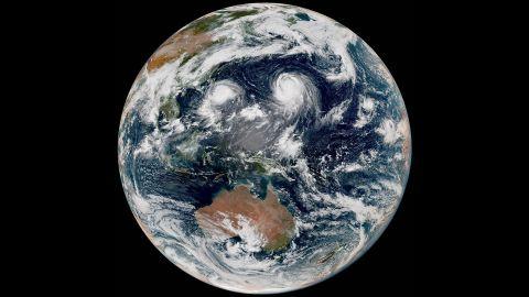 Animated gif of two typhoons.
