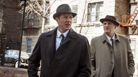 "Ed Burns, left, leads the cast of ""Public Morals,"" premiering at 9 p.m. ET Tuesday on TNT."