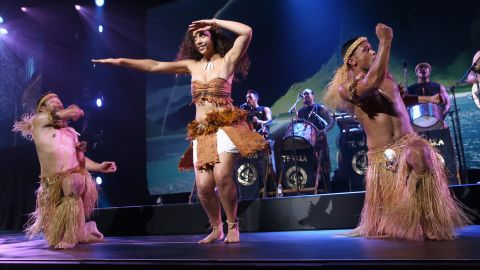 South Pacific fusion band Te Vaka, whose music is featured in 'Moana,' played at Disney's D23 expo.
