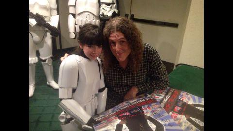 Layla in her Stormtrooper armor.
