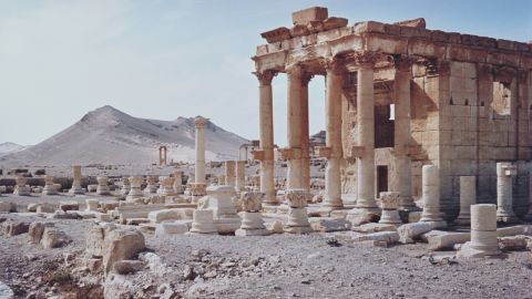 The temple of Baal-Shamin in Palmyra, Syria, circa 1960. (Photo by Archive Photos/Getty Images)