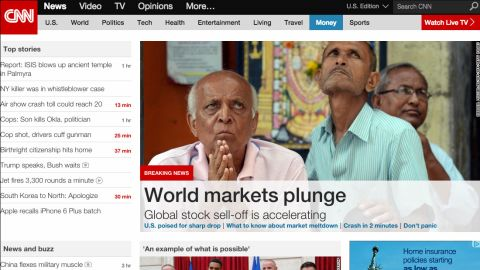 CNN's homepage on desktop in 2015: See how CNN's website has evolved through the years.