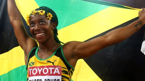 """<a href=""""http://edition.cnn.com/2016/07/18/sport/rio-2016-usain-bolt-fraser-pryce/"""">Shelly-Ann Fraser-Pryce </a>is aiming to become the first athlete to win three straight 100m golds at the Olympics -- and she could do it before Usain Bolt. This time around she's dropped the 200m and will be putting all her focus and energy into the 100m. Her opponents have been warned."""