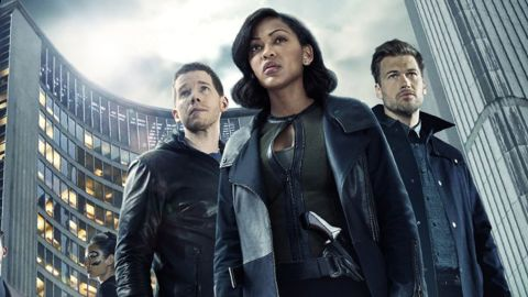 """Stark Sands, Meagan Good and Nick Zano star in the sci-fi series """"Minority Report,"""" a TV sequel to the 2002 film starring Tom Cruise."""