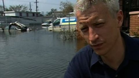 Anderson in New Orleans in 2005 where he saw a body on top of a car a week after the storm.