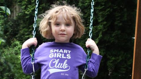"""<a href=""""http://www.freetobekids.com/"""" target=""""_blank"""" target=""""_blank"""">Free To Be Kids</a> aims to tackle gender cliches head on with empowering T-shirts for girls and boys, such as this one titled """"Smart Girls Club."""" The company offers a choice between unisex tees, with plenty of room, or slimmer versions."""