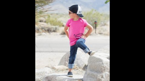"""<a href=""""http://www.quirkiekids.com/"""" target=""""_blank"""" target=""""_blank"""">Quirkie Kids</a> believes all kids should be free to wear pink regardless of their gender. The company offers a line of gender neutral T-shirts."""