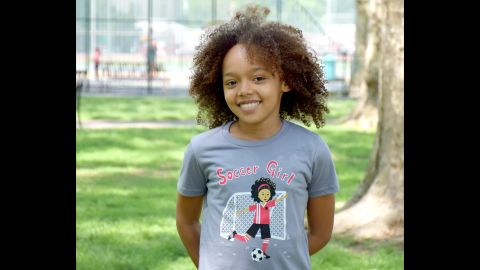 """<a href=""""http://www.sunrisegirl.com/"""" target=""""_blank"""" target=""""_blank"""">Sunrise Girl</a> offers short and long sleeve T-shirts celebrating girls' different interests, from soccer to gymnastics to the great outdoors."""